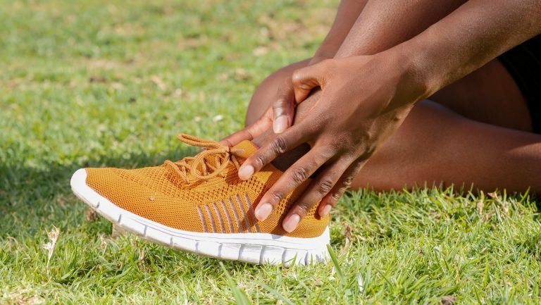 Picture of an Orange Running Shoe